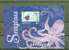 Micronesia 2014 MNH Seaglass 1v S/S I Marine Sea Glass Octopus Stamps