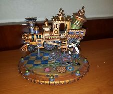 Disney Parks Goofy Steam Punk Figure Train Iight's up NEW IN BOX