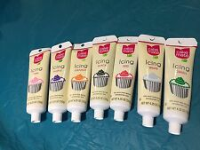 CHOOSE 10 Cake Mate Icing - 4.25 OZ WHITE GREEN RED ORANGE PURPLE BLACK PINK