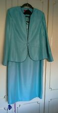 Jacques vert dress jacket suit wedding cruise mother bride  teal green jade 16