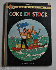 TINTIN Coke en Stock BD French Comic Book HERGE Casterman 1960s