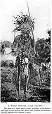 1913 Dress Of A Witchdoctor In Lake Ntumba Skins Bells Feathers