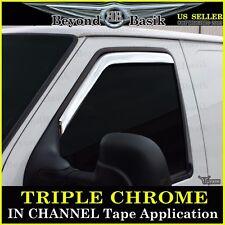 92-14 E-Series Wagon E150,E250,E350,E450,E550 2pc Front CHROME Vent Door Visors