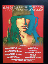 GOO GOO DOLLS promo FLYER oct 2013 uk live magnetic tour shows