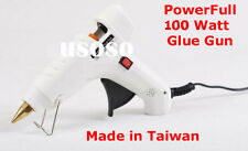 Combo - White Glue Gun 60-100 Watts + 5 Pcs Glue Sticks Hot Melt