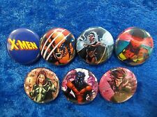 "1"" pinback button set inspired  by ""X-Men"" Wolverine Marvel Avengers"
