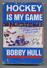 Vintage 1960's Book Signed by Bobby Hull Johnny Bower Hockey is My Game !!