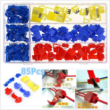 Car Quick Splice Solderless Electrical Wire T-Tap Connector Assortment 85pcs Kit
