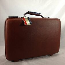 Vintage Brown American Tiara Tourister Suitcase Hard Side Luggage Bag
