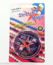 "STRETCH MAGIC BEADING CORD 1 MM /.039"" 16 FT BLACK ( MADE IN USA )"