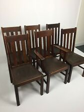 Mission Oak Dining Chairs Stickley Era