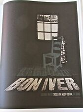 Bon Iver Poster Reprint for Seattle WA  Live Performance 14x11 Unsigned