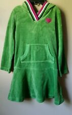 Gymboree Merry and Bright Dress Girls Size 4 Green Pink Heart 2010