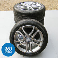 "GENUINE MERCEDES BENZ 17"" A B CLASS 5 TWIN SPOKE ALLOY WHEELS NEW TYRES CLA"
