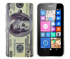 Schutzhülle f Nokia Lumia 630 Tasche Case Cover Silikon TPU 100$ Dollar Amerika