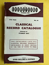 GRAMOPHONE CLASSICAL RECORD CATALOGUE - No.64 March 1969 Vinyl LP Guide Book