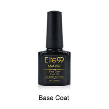 Elite99 Metallic Nail Polish Soak-Off UV LED Metal Top Base Coat Reinforce Gel
