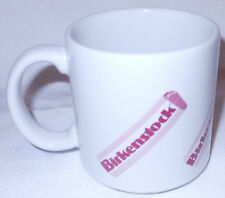 Birkenstock White Maroon Footprint 2-Sided Ceramic Coffee Cup Tea Mug