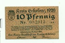 OLD GERMANY EMERGENCY PAPER MONEY - NOTGELD Erkelenz 1920 10 Pf