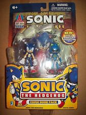 sonic and metal sonic comic book pack sonic the hedgehog figure Jazwares toy