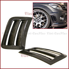 Carbon Fiber Side Air Vent Induct Cover Hood For 08-11 W204 C204 C63AMG Bumper