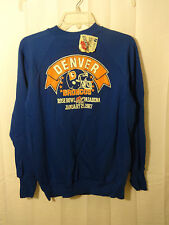 Denver Broncos Large Vintage Logo 7 1987 AFC Champs Sweat shirt Super Bowl NWT