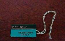 Vintage ROLEX Green Hang Tag Sello 116200/72200 OYSTER SWIMPRUF Showcase Tag
