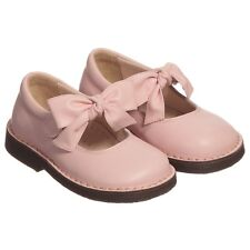 IL GUFO BABY GIRLS PINK LEATHER BOW SHOES EU 22 UK 5