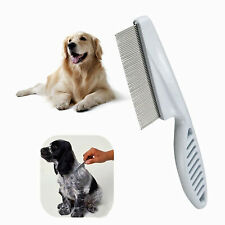 Dog Cat Pet Flea Comb Stainless Steel Pin Teeth For Grooming Kitten Puppy UK