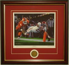 ALABAMA 2015 National Champions Finish framed print/coin signed by Daniel Moore
