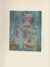 """1955 Vintage PAUL KLEE """"GIRL WITH JUGS"""" FABULOUS COLOR Art Plate Lithograph"""