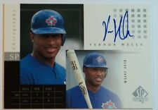 2000 Vernon Wells SP Authentic Chirography Autograph Auto #VW Blue Jays