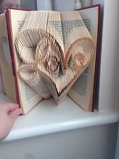 Folded Book Art. Book Fold. Heart With Love Inside. Valentine's. Gift. Wedding