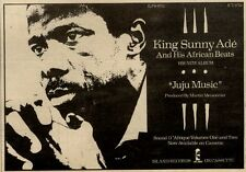 31/7/82PGN45 KING SUNNY ADE : JUJU BEATS ALBUM ADVERT 5X7""