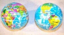 12 WORLD GLOBE MAP BOUNCE BALLS novelty squeeze novelty toy bouncing play ball