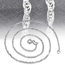 16″ Femmes Belle corde chaîne Argent 925 Collier raffiné Bijoux EH