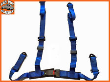 NEW SPORTS RACING HARNESS SEAT BELT 3 OR 4 POINT FIXING QUICK RELEASE BLUE
