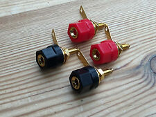 Set 4 genuine NEW TANNOY gold plated 4mm terminal connection speaker posts