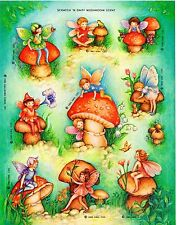 ❤❤SILLY SCENTS MUSHROOM SCENTED FAIRIES❤❤STICKER SHEET❤❤HALLMARK