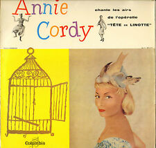 """ANNIE CORDY """"TETE DE LINOTTE"""" 50'S LP COLUMBIA 130"""