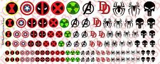 Decals: Marvel Character logos - Waterslide Decals Various Sizes