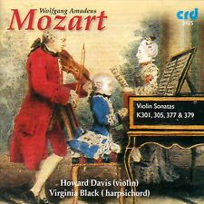 CD MOZART VIOLIN SONATAS K 377 K301 K305 K379 HOWARD DAVIS VIRGINIA BLACK