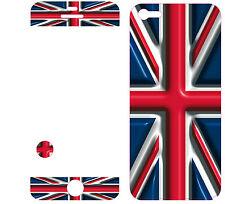 COQUE  iphone 5 EN RESINE 3D STICKERS REPOSITIONNABLE DRAPEAU BRITANIQUE N° 34