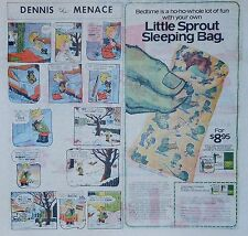 Green Giant ad page - Little Sprout Sleeping Bag - 1977 color Sunday comic ad