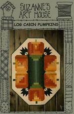 LOG CABIN PUMPKINS Suzanne's Art House Halloween /Fall AppliquePillow Pattern