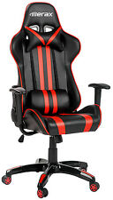 Merax Executive Racing Gaming Chair High Back PU Leather Computer Desk Red
