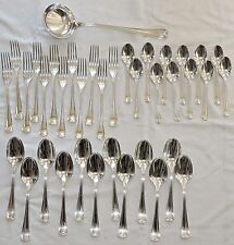 "MENAGERE EN METAL ARGENTE CHRISTOFLE  MODELE ART DECO ""CHEVRON"" 37 PIECES /2"