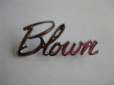 CHROME BLOWN BADGE NEW SUPERCHARGER HOLDEN FORD CHEV HOTROD RATROD CUSTOM