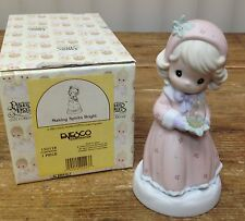 Precious Moments Figurine In Box Making Spirits Bright Candle Caroler 150118