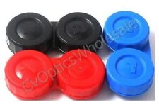 3x Contact Lens Soaking Storage Case Black/Blue/Red